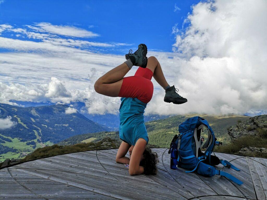 Yoga op de Alpe Adria Trail