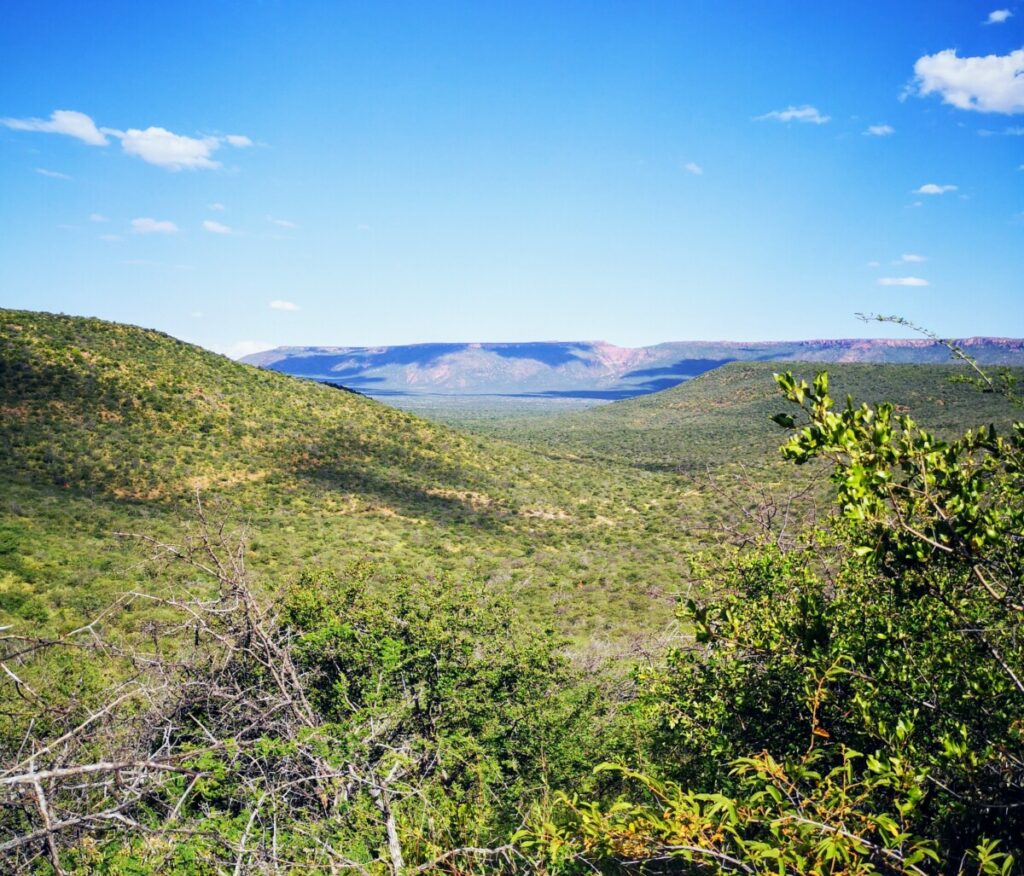 Na die beroving stond ik eerst op mijn hoofd en daarna beklom ik Mount Etjo
