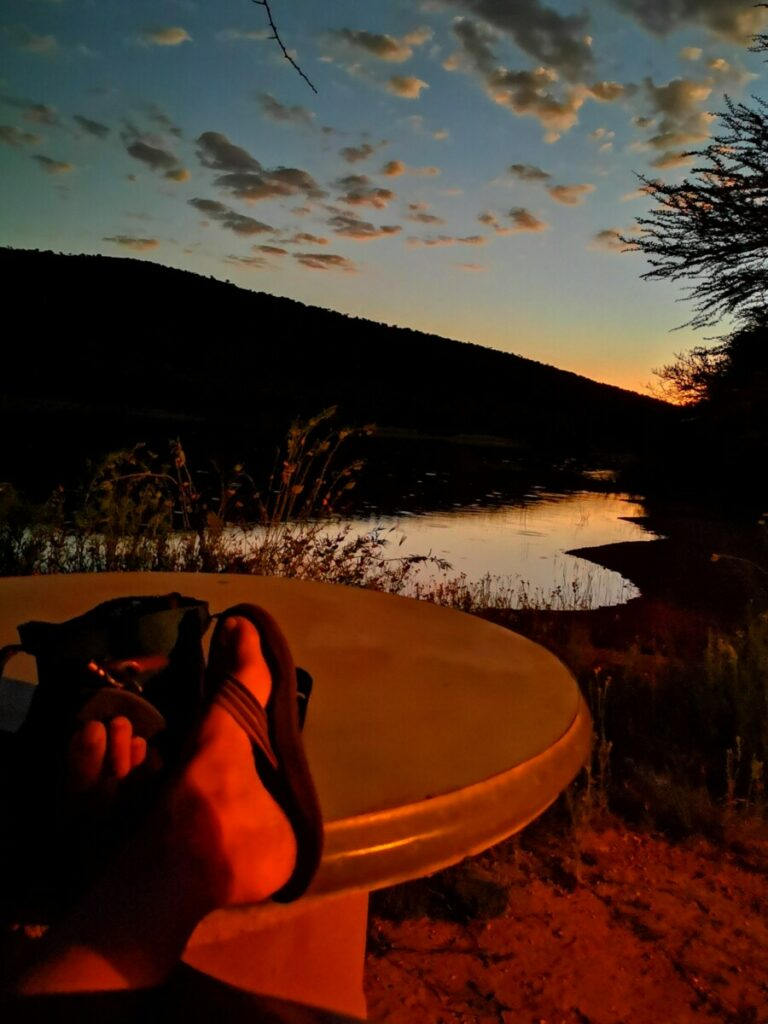 Geweldig uitzicht op campsite na beroving in Otjiwarongo