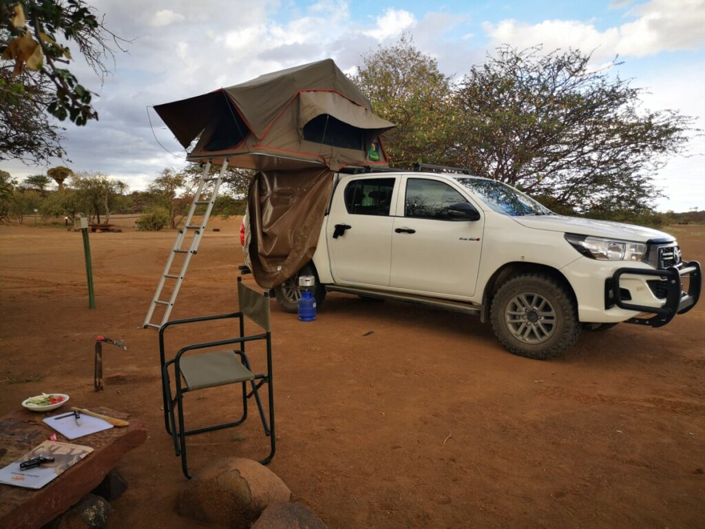 My rooftoptent at quivertree forest rest camp