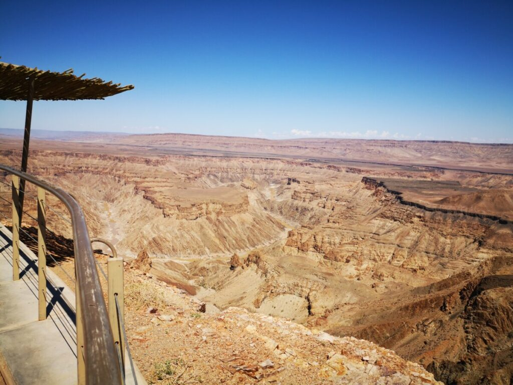 Fish River Canyon from Quivertree Forest
