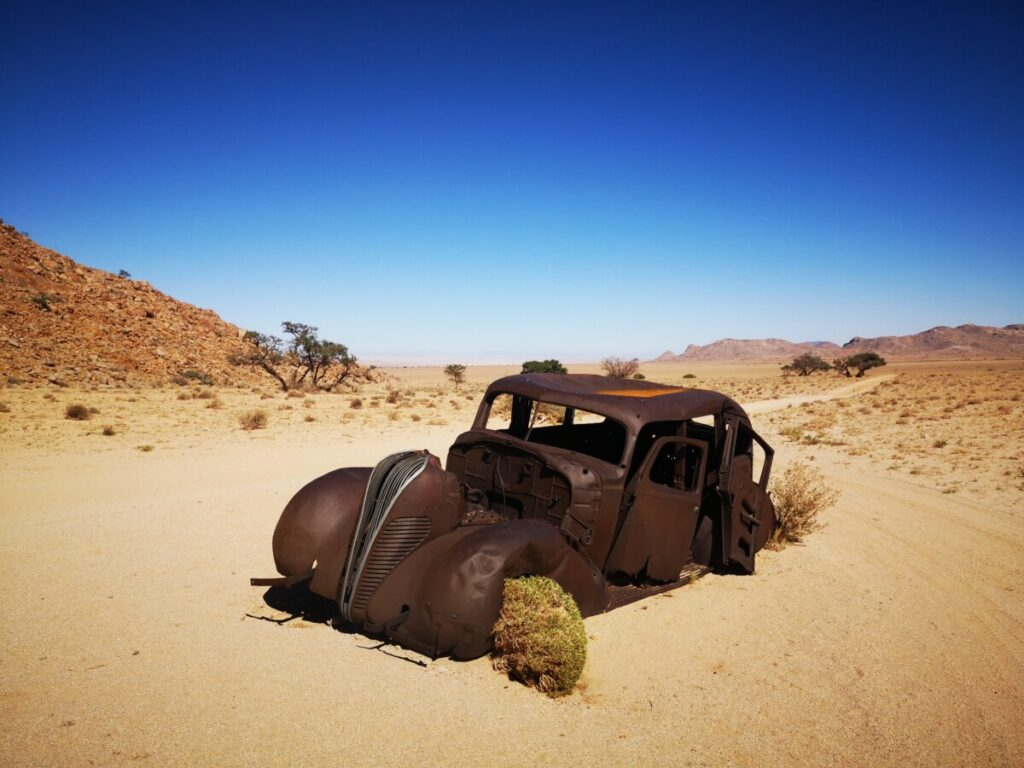Wandelen nabij Aus - Namibie