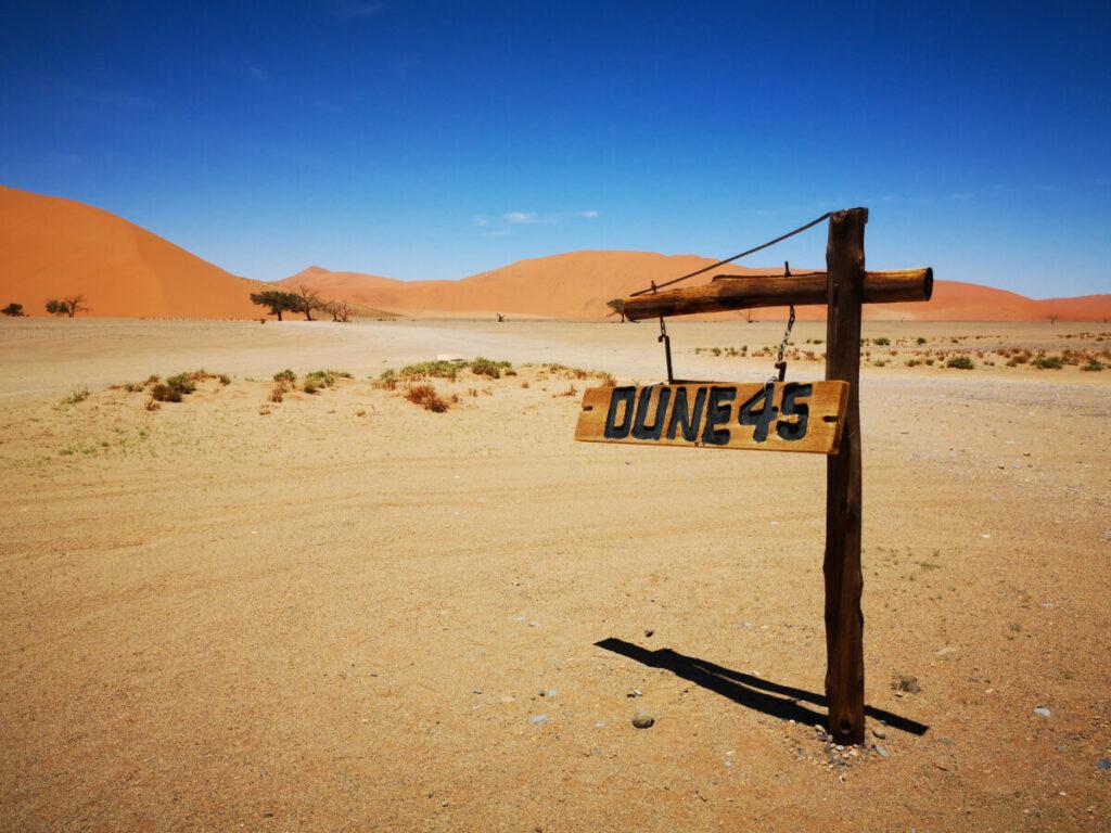 Dune 45 in de Sossusvlei - Namibië
