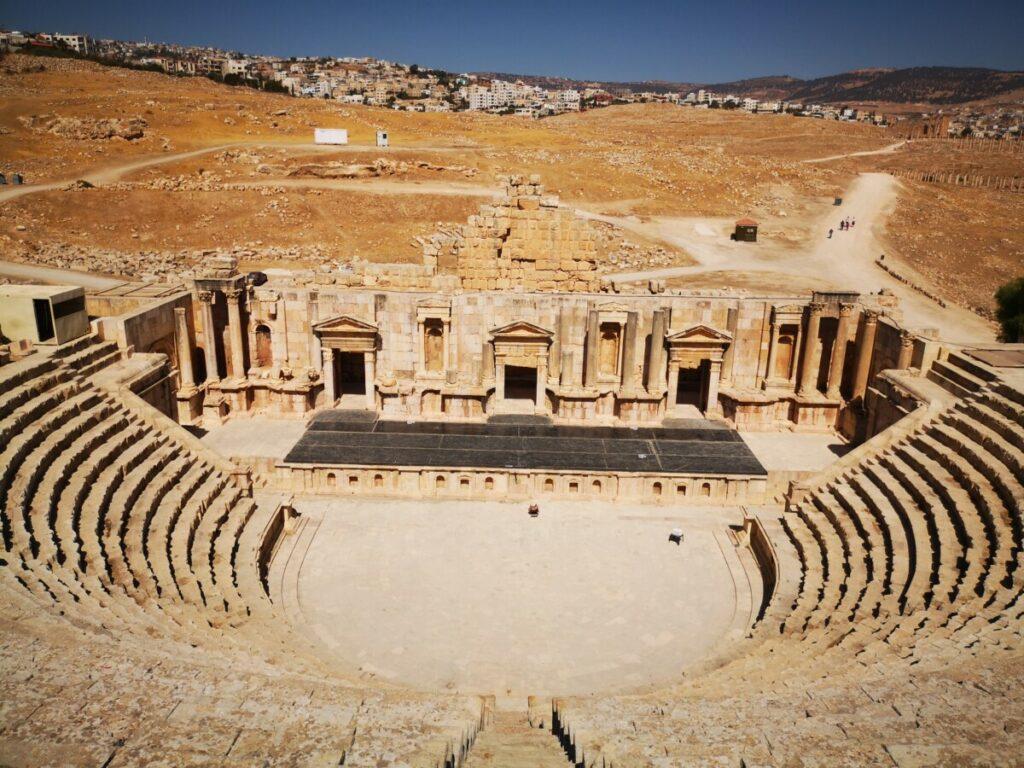 Het zuid theater - Ruïnes van Jerash - Jordanië