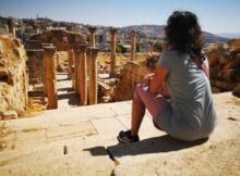 Hoofdstraat in de ruïnes van Jerash - Cardo