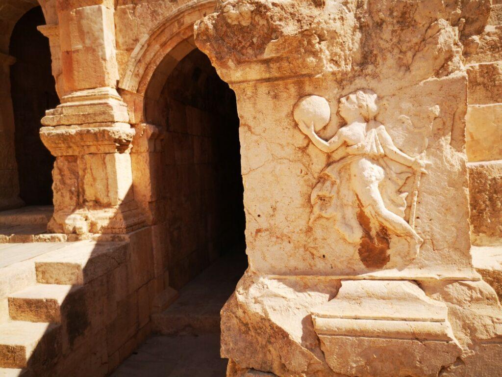 Noord theater in de Ruïnes van Jerash