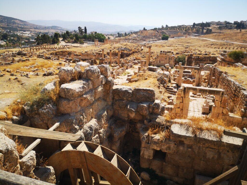 Ingenieus stukje in de ruïnes van Jerash