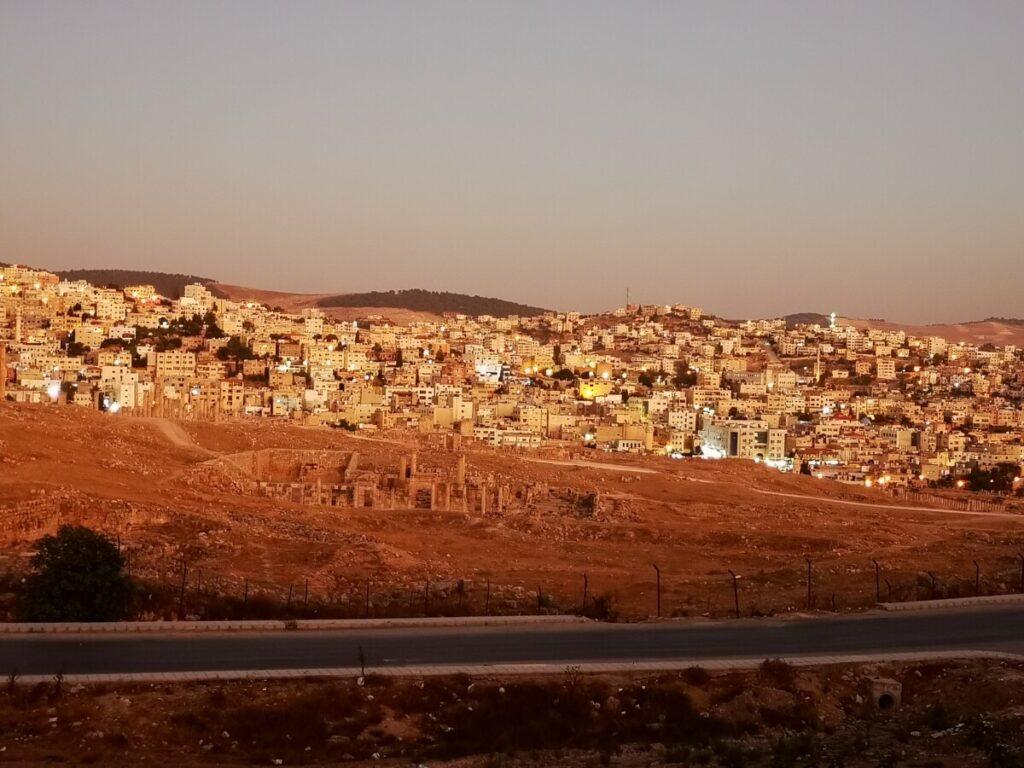 Full Panorama on Archeological Site Jarash